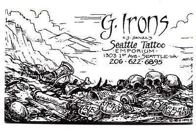 Seattle Tattoos on Als Er Als T  Towierer 1981 1982 Im Seattle Tattoo Emporium Arbeitete